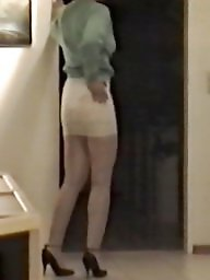 Lace, Skirt, Tight, Voyeur tits, Tights