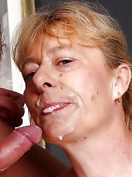 Matures, Mature facial, Granny facial, Cummed, Mature grannies, Cum covered