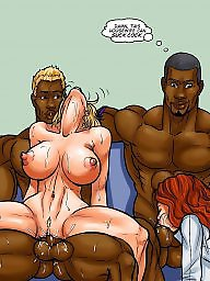 Cartoons, Interracial cartoons, Interracial cartoon, Cartoon interracial, Night