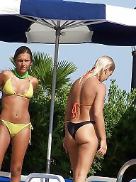 Cameltoe, Public, Topless, Nude beach
