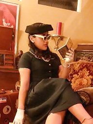 Vintage, Dress, Gloves, Vintage stockings, Dressing, Ups