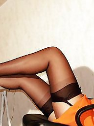 Vintage, Model, Upskirt stockings