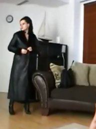 Boots, Leather, Fur, Gloves, Milf leather, Fur coat
