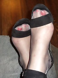 Grey, High heels, Milf stocking