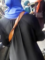 Hijab ass, Street, Stocking asses, Ass hijab