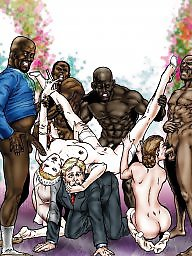Cartoon, Creampie, Cartoons, Bride, Interracial cartoons, Interracial cartoon