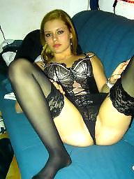 German, Stockings, Lingerie, Dildo, Stocking, Blonde