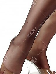 Nylon feet, Feet, Nylon, Stockings, Stocking feet, Nylon stockings