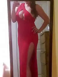 Asian wife, My wife, Asian milf, Red, Dress, Milf asian