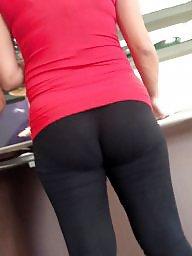 Spandex, Milf ass, Nice ass, Hidden cam