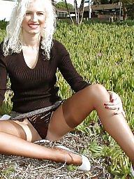 Outdoors, Upskirt, Outdoor, Vintage, Nylon, Lady