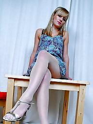 Nylon feet, Feet, Nylon, Nylons, Stocking feet, Nylons feet