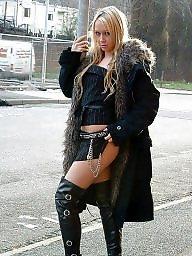 Heels, Upskirt voyeur, Upskirt stockings