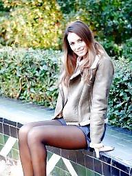 Nylon, Nylons, Street, Upskirt stockings