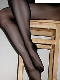Feet, Nylon feet, Leggings, Stocking feet, Legs stockings, Amateur nylon