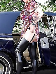 Latex, Mature upskirt, Mature stocking, Mature latex, Upskirt mature, Hot