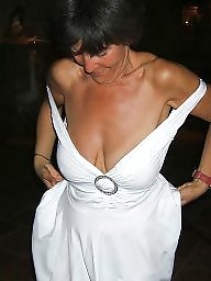Mature dress, Mature nipple, Dressed, Dress