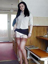 Lingerie, Heels, Stockings heels, Amateur lingerie