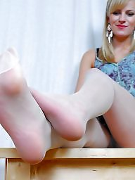 Nylon feet, Feet, Nylon, Nylons, Stocking feet, Nylon stockings
