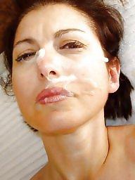 Facial, Facials, Cummed, Amateur facials