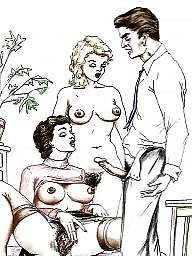 Vintage cartoons, Vintage cartoon, Funny cartoon