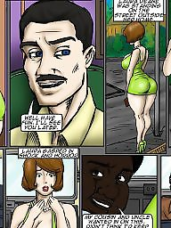 Interracial cartoon, Interracial cartoons, Bus