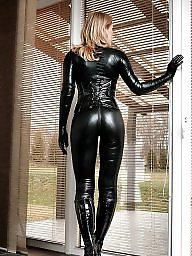 Leather, Boots, Catsuit, Gloves, Femdom bdsm