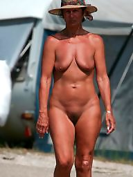 Nudist, Older, Beach mature