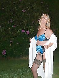 Granny, Granny stockings, Amateur mature, Garden, Hot granny, Granny amateur