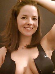 Big boobs, Brunette amateur