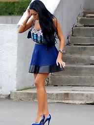 High heels, Tight, Upskirt stockings, High, Stockings heels