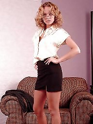 Office, Upskirts, Upskirt stockings
