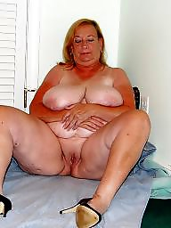 Grandma, Mature bbw, Home, Big boobs mature