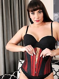 Corset, Flashing boobs, Corsets, Brunette, Blacked