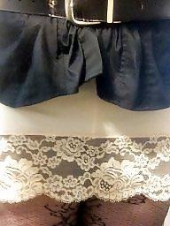 Lace, Upskirt stockings, Silk stockings, Silk