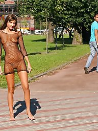 Street, Flashing, Public nudity, Naked, Exhibitionist