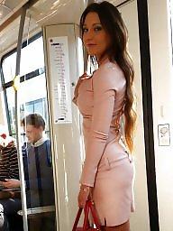 Public, Heels, High heels, Skirt, Voyeur, Skirts