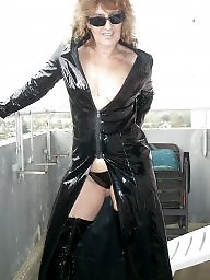 Latex, Pvc, Leather, Mature leather, Mature lady, Milf mom