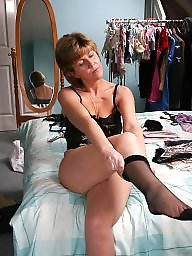 Stockings, Dressed, Dress, Mature dressed, Mature dress