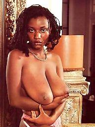Ebony, Black, Retro, Vintage, Busty, Vintage boobs