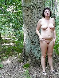 Mature nude, Wood, Woods, Public mature, Mature public, In the woods