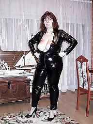 Latex, Leather, Pvc, Mature leather, Mature milf, Mature pvc