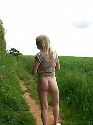Wife, Mature pussy, Outside, Mature public, Blonde mature, Mature blonde
