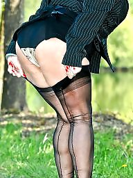 Girdle, Mature girdle, Mature upskirt, Upskirt mature, Upskirt stockings, Suspenders