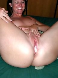 Open, Mature lady, Mature creampie