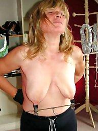 Slave, Mature bdsm, Torture, Slaves, Mature slave, Tit torture