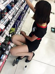 Chinese, Stockings voyeur, Pretty