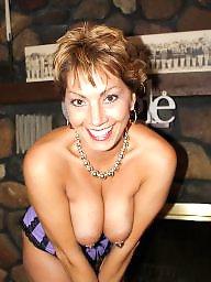 Posing, Outside, Public boobs, Pose, Milf big boobs