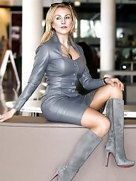 Latex, Pvc, Mature, Boots, Leather, Mature leather