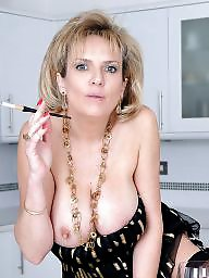 Nylon, Cigarette, Milf stocking, Milf nylon